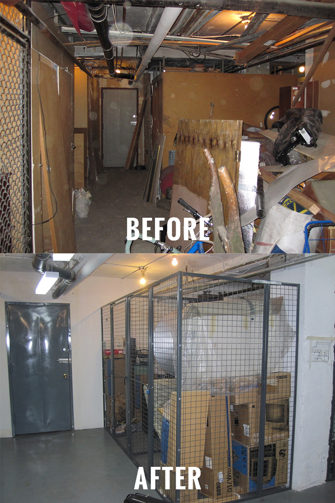 Is the basement in your building a cluttered, unorganized disaster? Let us clean up and organize your storage areas with Tenant Storage Lockers from WireCrafters!