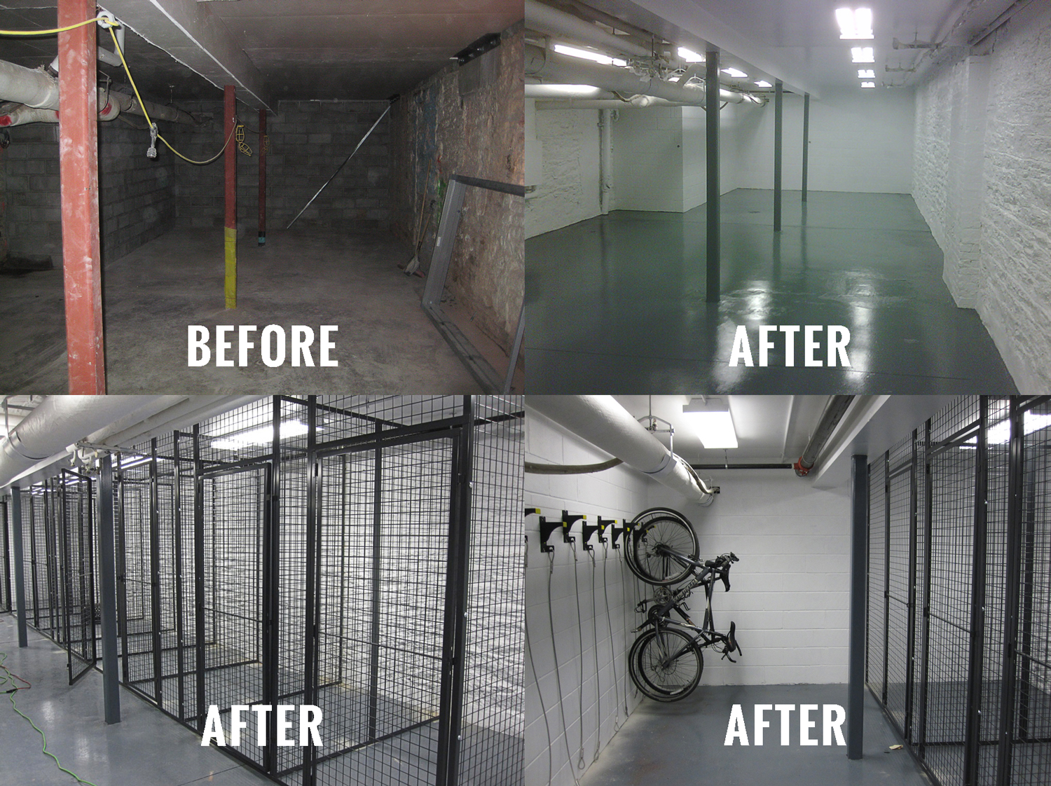 Giant Industrial Installations can literally transform your existing building storage areas into clean, organized, and profit-generating storage rooms.