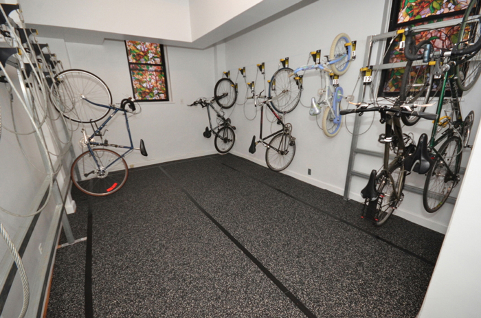 Bicycle Wall Riders are perfect for in-office bike storage for commuting employees.