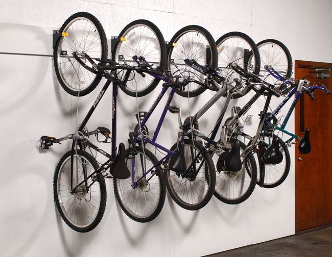 The Wall Rider allows your building to utilize unused wall space for storing tenants' bikes; allowing multiple bicycles to be stored in a small amount of space.