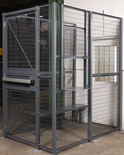 Driver Access Cages provide an area to keep building visitors confined. Preventing drivers & guests from wandering into dangerous areas or gaining access to inventory or dangerous equipment.